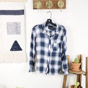 RAILS • Blue and White Flannel